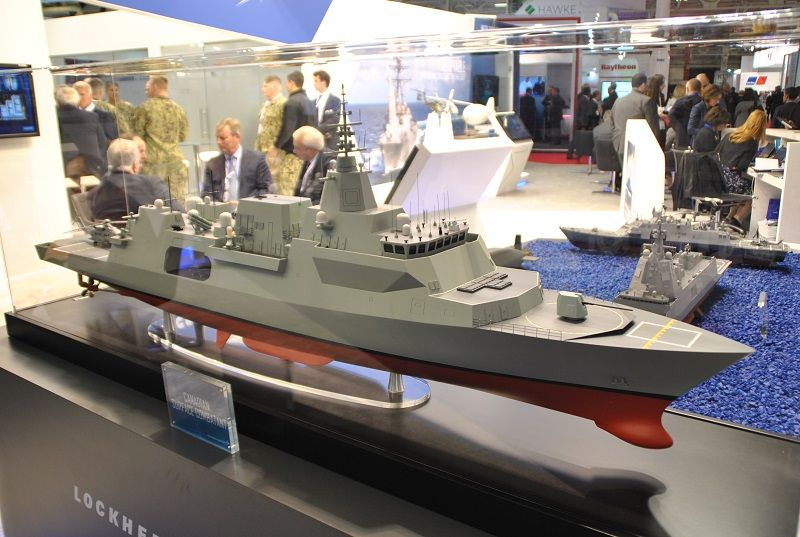 Lockheed Martin's Type 26 model at Euronaval 2018. (Photo: DPM)