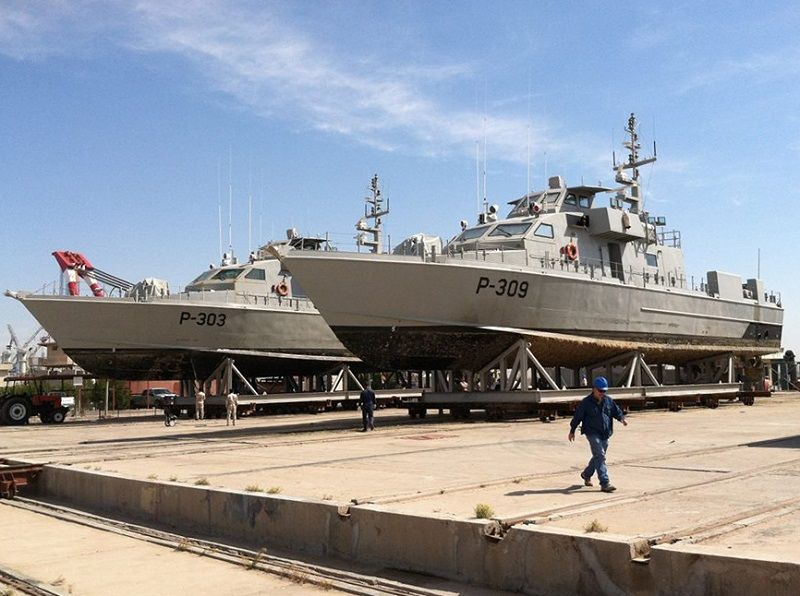 The Iraqi Navy and Swiftships have a long-standing relationship – working on a day-to-day basis on that navy's continuous life cycle support (CLS) which allows Swiftships to materially manage their fleet (several vessels above). (Image: Swiftships)
