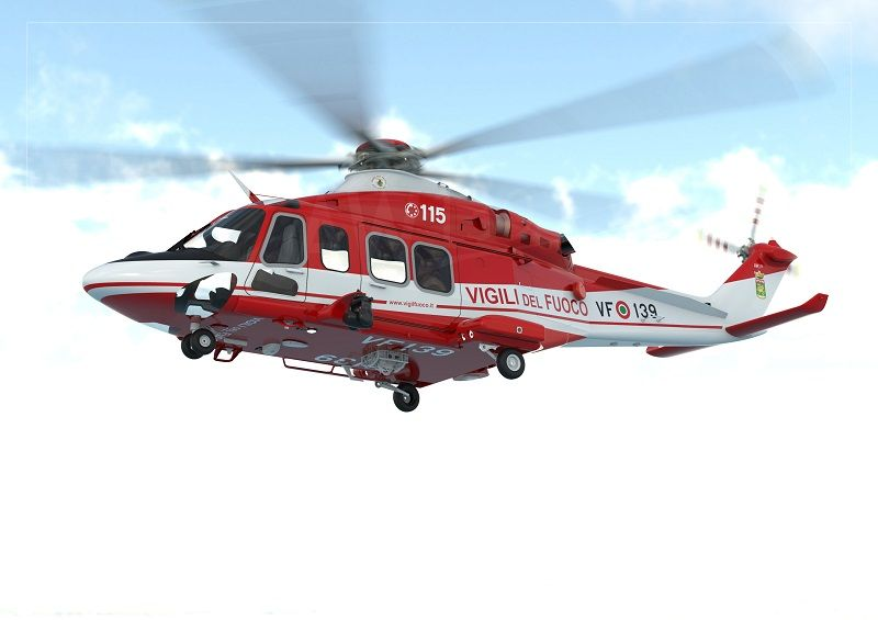 The 7t AW139s of the VDF are expected to progressively replace their AB412s helicopters which have been in service for decades. The new aircraft of the VDF will feature a wide range of mission equipment, including an external rescue hoist, cargo hook with bambi bucket provision, weather radar, multi-band and satellite communication systems, high definition Forward Looking Infra-Red/Low Light TV (FLIR/LLTV) system, Leonardo's high definition mission console with digital recorder, high definition down link, Leonardo's Optical Proximity LiDAR System (OPLS), Night Vision Goggle (NVG) capability, new generation TRAKKA searchlight, emergency floatation system and external life rafts, external loudspeaker, medical rack and bubble windows. (Photo: Leornardo)