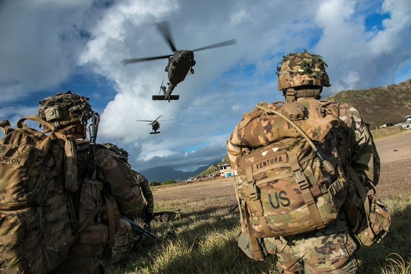 US Army soldiers assigned to Charlie Co., 1st Battalion, 27th Infantry Regiment