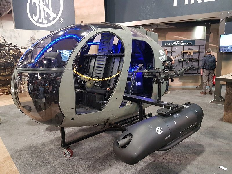 FN Herstal developed a new comprehensive FN Airborne Digital Suite to meet challenging market demands and expectations on integrating machine guns into modern platforms. The FN Airborne Digital Suite provides military forces with the highest level of operational capability. This new fully digital ITAR-free suite is fully in line with FN Herstal's strategy to further develop its customisable integrated weapon systems for airborne applications. (Photo: Mönch/DPM)
