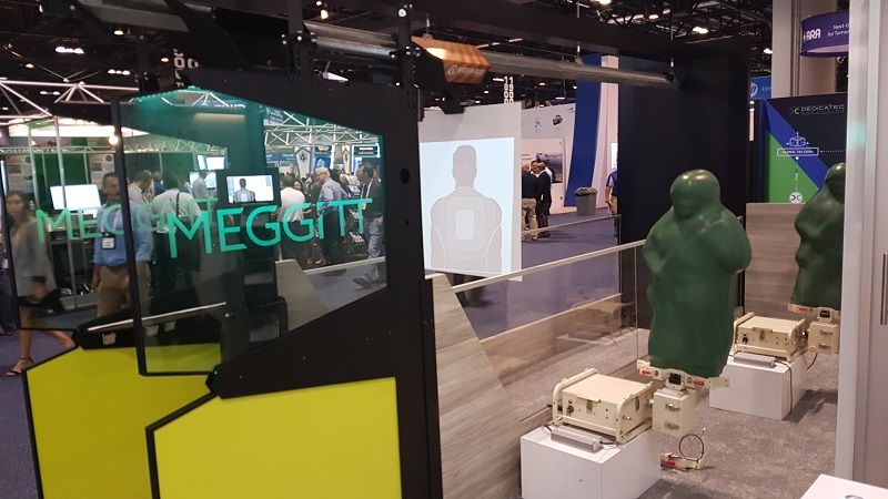 Meggitt's Multi-Function Stationary Infantry Target (MF-SIT), seen here infront of the company's XWT PROLMAGE projected target system during I/ITSEC 2018, will be SHOT Show's Industry Day at the Range on 21 January. (Photo: Mönch/DPM)