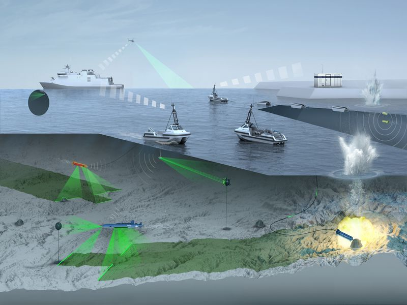 Naval & Robotics (consortium between Naval Group and ECA-Robotics), SeaNavalSolutions (consortium between STX France, Socarenam, Thales Belgium and Engine Deck Repair) and Dutch Damen Schelde (associated with IMTECH België) are competing for a Mine Countermeasures (MCM) contract, which will be awarded by Belgium and the Netherlands in the beginning of 2019. (Image: Atlas)
