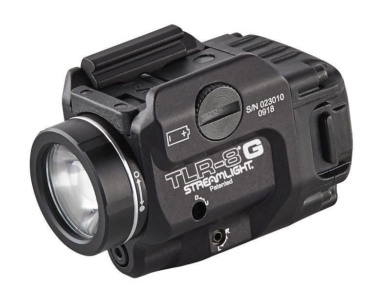 """At SHOT Show 2019, Streamlight, a leading provider of high-performance lighting and weapon light/laser sighting devices, added a new low-profile model to its extensive line of TLR rail-mounted tactical lights, the TLR-8 G, featuring an """"Eye Safe"""" Green Aiming Laser. The exceptionally lightweight and compact light is designed to maximise visibility and long-range targeting capability in a variety of tactical applications."""