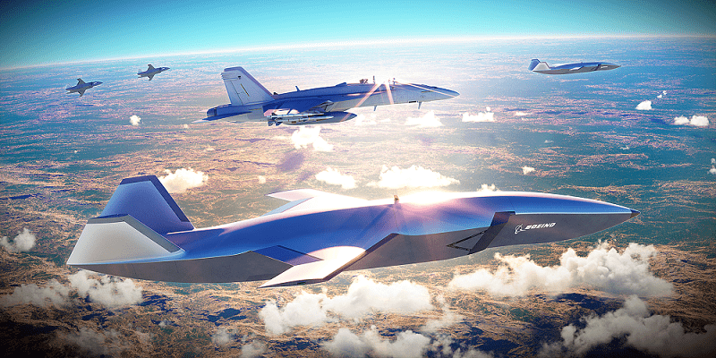 Boeing's WINGMAN will be designed to network with existing Royal Australian Air Force (RAAF) aircraft and extend airborne missions and customised for a series of roles. (Image: Boeing) Images released by the company show that it has a stealthy design to the airframe and will have to keep pace with manned fighter jets like the F/A-18F Super HORNET and F-35A. It could offer a supplementary attack capability with swarm-type characteristics that could overwhelm the air defences of rival countries. (Image: Boeing)