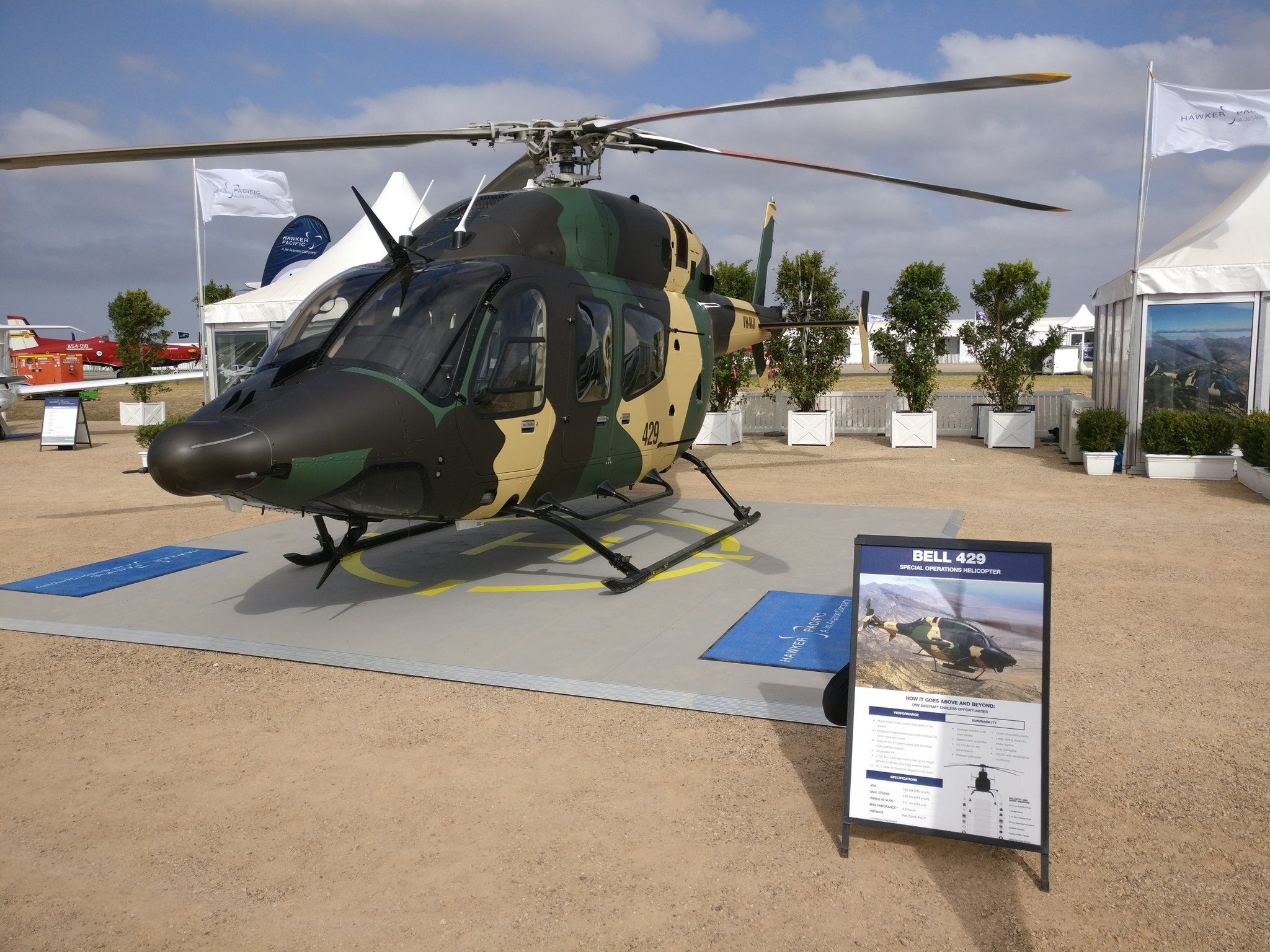 bell 429 hawker pacific special forces helicopter
