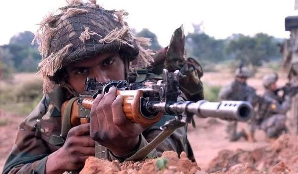 The SIG 716 G2 7.62x51mm rifle will replace the indigenous INSAS assault rifle (shown), which are to be retired soon. (Image: Indian Army)