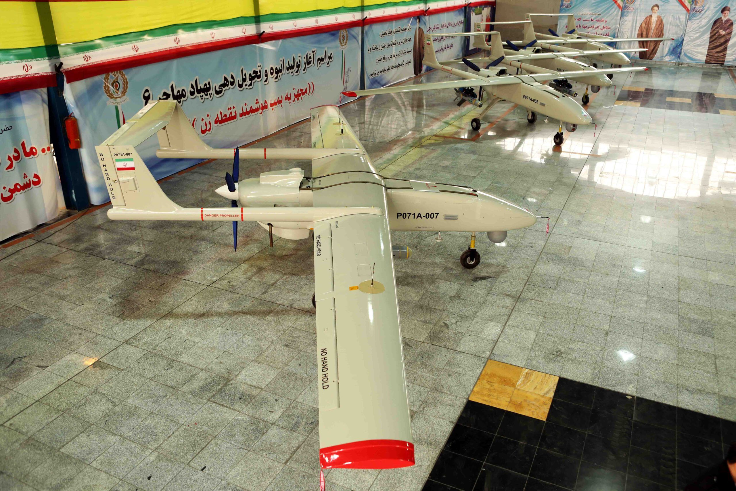 MOHAJER 6 UAV with QHAEM bomb 3.