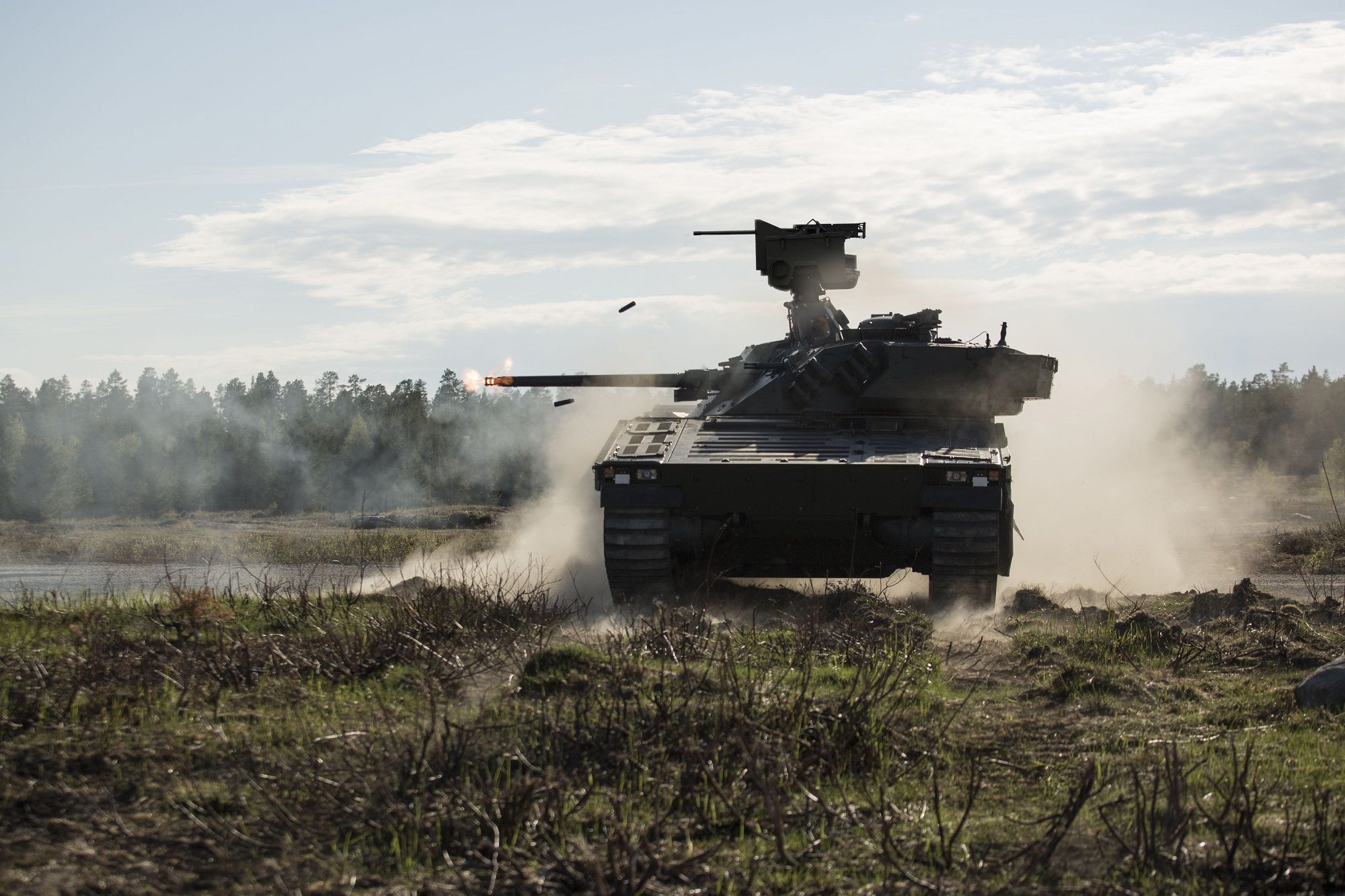 The US Army Next Generation Combat Vehicle – Optional Manned Fighting Vehicle (NGCV-OMFV) programme to replace the M2 BRADLEY IFV currently has three announced contenders, all of which are drawing from foreign designs.  The CV90 MkIV, shown with remote weapon station, is BAE Systems' offering, and has versions already in service with seven armies.  (Photo: BAE Systems)