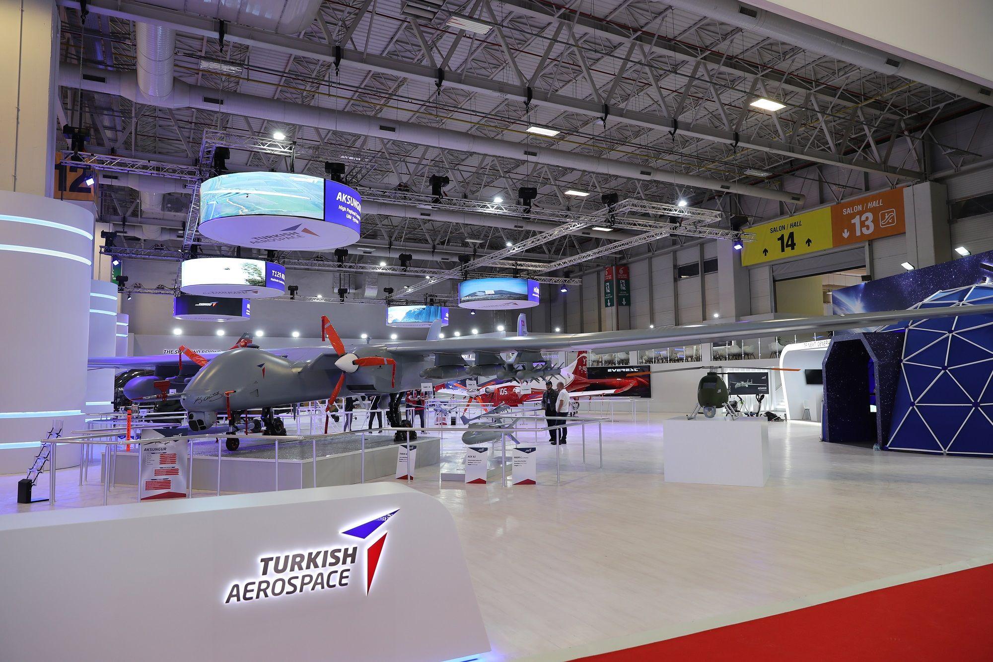 At IDEF 2019, Turkish Aerospace exhibits its ANKA-AKSUNGUR