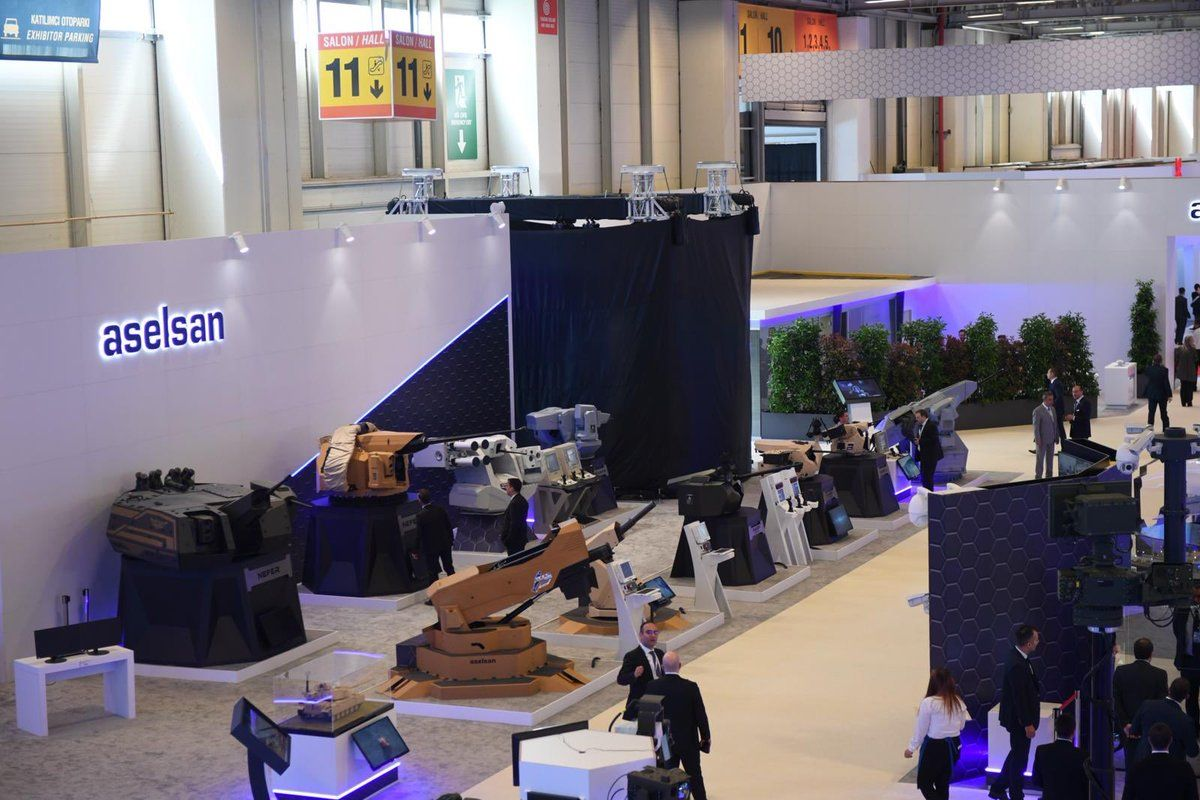 Among new product launches are the company's brand new Close In Weapon System (CIWS - previously known as KORKUT-D CIWS) for the protection of naval assets. While the serial production of the new KORKUT 35mm Self Propelled Air Defense Systems and the modernisation of towed 35mm air defence guns for the Turkish Army are ongoing, Aselsan successfully qualified its CIWS and in May 2018 demonstrated the effectiveness of it via firing trials conducted under the supervision of Turkish Presidency of Defense Industries and Turkish Navy. Aselsan's booth at IDEF 2019 is again the most prominent stand...more like a hall. (Photo: Aselsan)