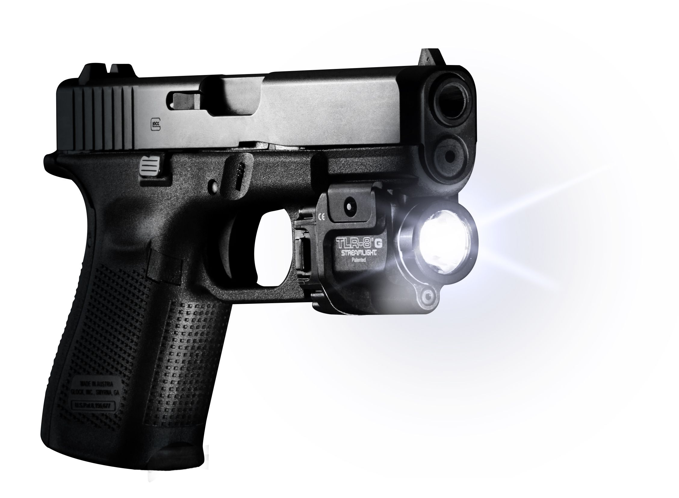 Streamlight TLR-8 G offers the ultimate in target engagement enhancement this rugged lithium battery powered LED weapon light with integrated green laser fits most hand guns and long guns. This light/laser combo features a fast rail clamp for rock solid repeatability on a wide variety of weapons. 500 lumens output delivers a powerful beam with extensive range, good peripheral coverage and selectable strobe mode. The daylight visible green targeting laser uses the latest direct drive diode that burns brightly in extreme temperatures. The TLR-8® G runs for 1.5 hours continuously with both light and laser in operation.