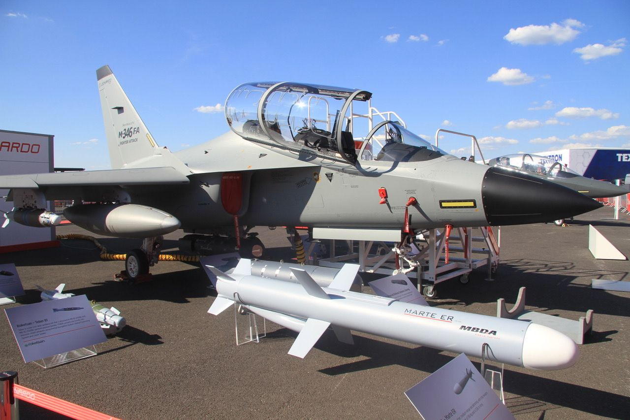 Leonardo is offering the M-346FA in the fighter attack role, incorporating a radar and other enhanced avionics and weapons. (Photo: Alan Warnes)