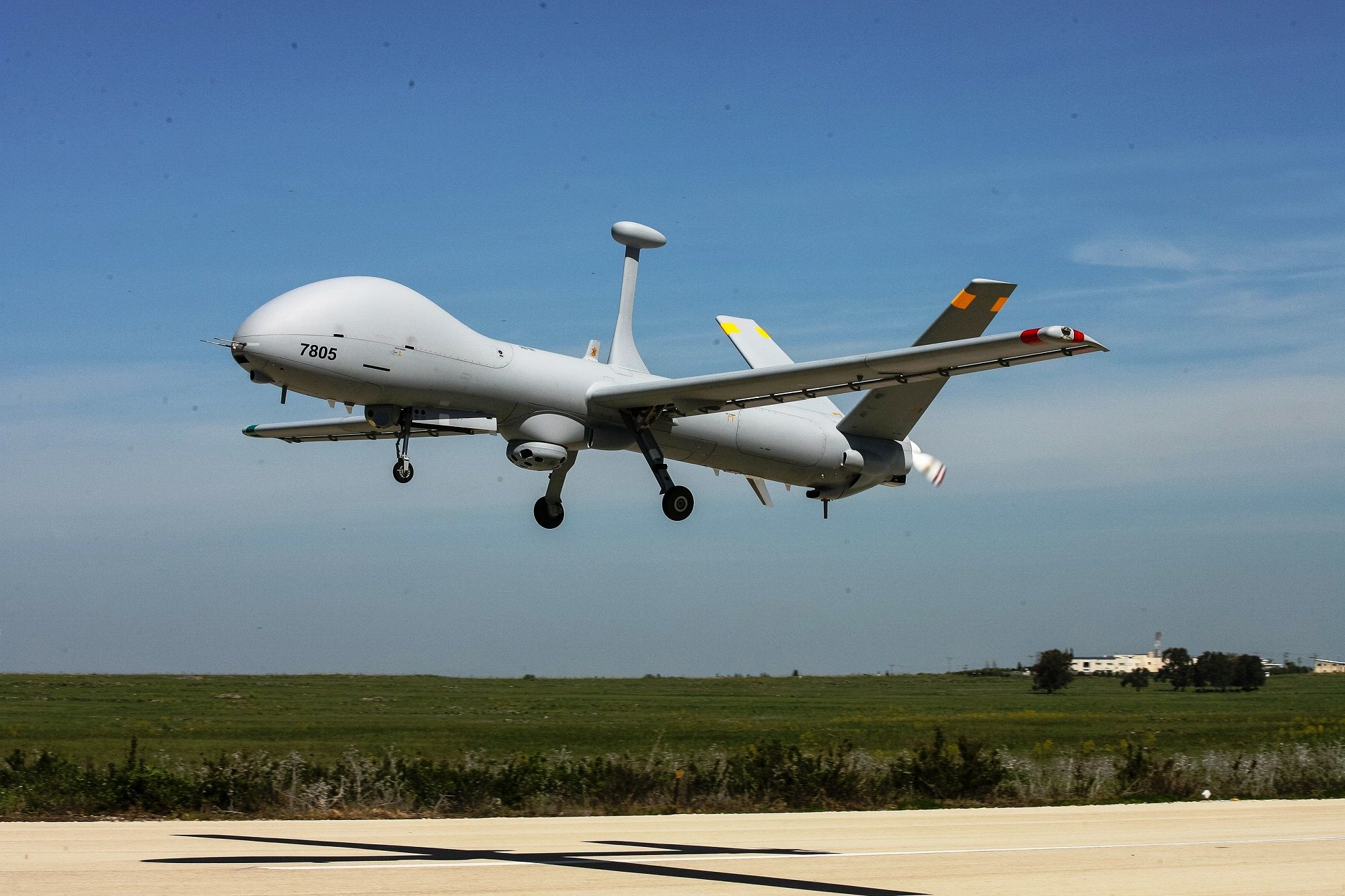 isdef An Elbit Systems HERMES-900 MALE UAV with SKYEYE electro-optical payload (Photo: Elbit Systems)