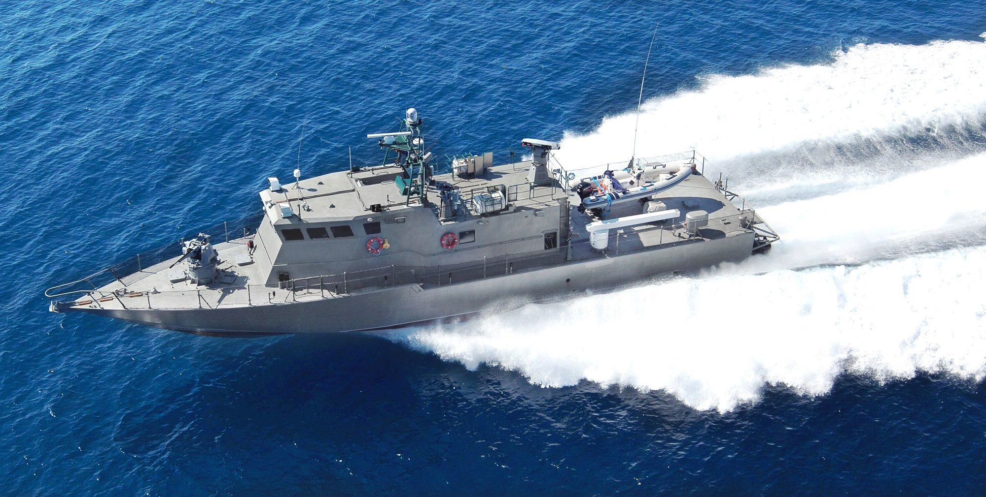 A SHALDAG MK. V-class vessel in navigation. These fast patrol craft are one of Israel Shipyards' best sellers. (Photo: Israel Shipyard)